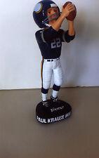 Paul Krause, Signed Vikings HOF'er Bobblehead Forever Coll. W/COA (Mint in Box)