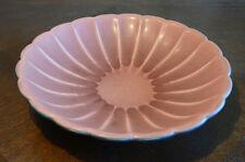 Antique Vintage Rookwood Pottery Serving Bowl Pink Blue Dish Plate Matte Rose or
