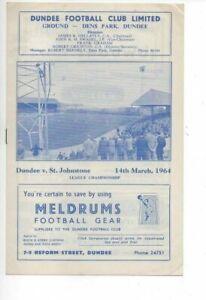 Dundee v St. Johnstone 1963/64 Division 1 Postponed Match