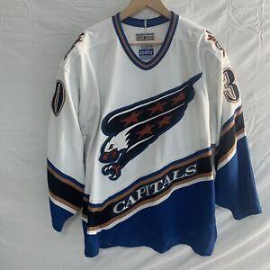 washington capitals hockey jersey gerry cosby /ccm carey