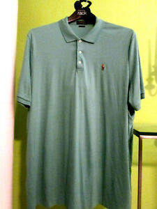 RALPH LAUREN-Classic FIT MENTHOL GREEN SOFT TOUCH POLO MATCH POLO-2XL