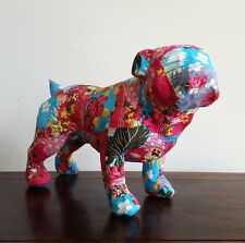 PUG, animal, handmade, paper mache/fabric, life size, stature unique, boho decor