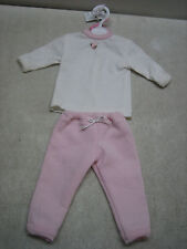"""Handmade American Girl & 18"""" Doll Size Pink Sweat Pants Long Sleeve Shirt Outfit"""