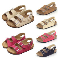 Toddler Children Wedge Cork Slingbacks Sandals Buckle Casual Shoes Size 8.5-11.5