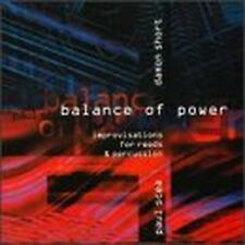Balance Of Power improvisations for reeds & percussion CD Damon Short Paul Scea