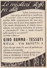 Z3799 Tessuti GINO RAMMA - Biella - Pubblicità d'epoca - 1939 old advertising