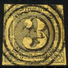 THURN UND TAXIS, 3 SILBERGROSCHEN, 1852, MICHEL # 6a, RING CANCELLATION 231