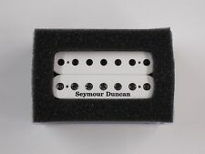 Seymour Duncan SH-4 JB 7 String Bridge Humbucker White W/Black Poles & Logo