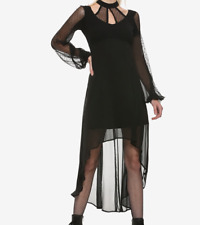ROYAL BONES TRIPP GOTHIC LAYERED LACE DRESS VAMPIRE GOWN HALLOWEEN WICCA SZ MD