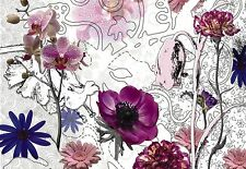 PURPLE PINK Photo Wallpaper Wall Mural FLOWERS ORCHIDS TEXTURES 368x254cm