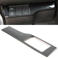 Car ESP Control Switch Panel Cover Trim Carbon Fiber Fit Honda Civic 2016-2017