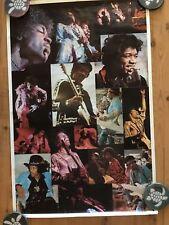"JIMI HENDRIX Poster collage ORIGINAL VINTAGE 1976 Classic! ""VERY RARE!"