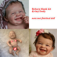 19in Newborn Baby Unpainted Blank Reborn Smile Doll Kit Full Body Vinyl Supplies