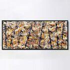 "Framed Canvas Giclee Print Art Blue poles (Number 11) by Jackson Pollock 20""x44"""
