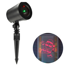 Motion Laser Projector Indoor/Outdoor W/Red Dancing Santa & Green Dot Pattern