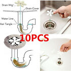 10X Bathroom Shower Drain Wig Chain Cleaner Hair Clog Remover Cleaning Tools