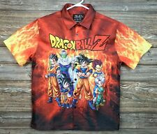 Dragon Ball Z Forever 21 Mens Small Short Sleeve Button Front Shirt Polyester