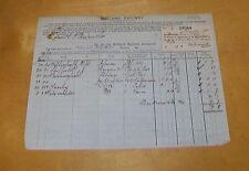 MIDLAND RAILWAY CARRIAGE ACCOUNT WAKEFIELD (WESTGATE) STATION ROPER & SON 1913