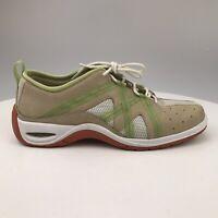 Women 7.5 B Vintage Cole Haan NikeAir D16126 Suede Tan White Green Sneakers Air