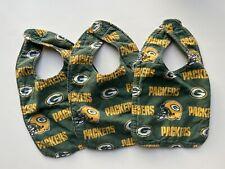 ( 3 ) Green Bay Packers Football Baby Bibs : LOT of Three