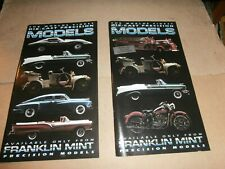2 Franklin Mint Die Cast Precision Models 1995 Catalogs Cars Truck Motorcycles