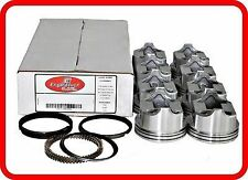 80-89 Chevrolet/GM SBC 'CAR' 305 5.0L OHV V8  (8)Flat-Top Pistons & Cast Rings