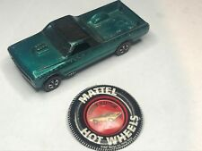 mattel hot wheels custom fleetside modelcar & tin badge 1967 hong kong redline