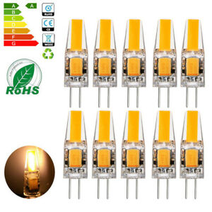 10x G4 LED COB 6W Lampen Stiftsockel Leuchtmittel Warmweiß Dimmbar AC / DC 12V