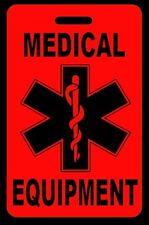 Hi-Viz Red Medical Equipment Carry-On Bag Tag - CPAP BiPAP APNEA POC