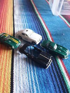 A Collection Of Minic Motorways Vintage Slot Cars E Jaguar and S type Jaguar