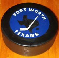 FORT WORTH TEXANS CHL HOCKEY OFFICIAL  GAME PUCK OLD VICEROY CANADA SLUG VINTAGE