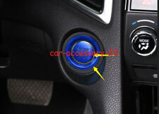 2x Blue Engine Start Stop Button Ignition Key Cover For Honda CR-V CRV 2017-2019