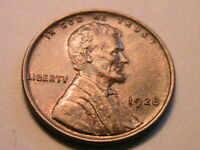 1928-P Ch Lustrous Brown Uncirculated Lincoln Wheat Cent Original Penny USA Coin