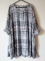 Dress Masai XS Check Black White Mix Arty Lagenlook With Pockets Oversized Tunic