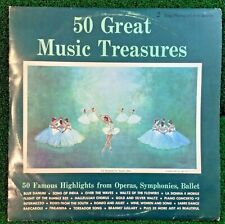 50 Great Music Treasures Famous Highlights From Operas, Symphonies, Ballet - Lp