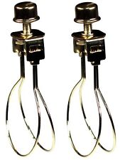 Creative Hobbies 2 Pack -Lamp Shade Light Bulb Clip Adapter Clip on with Shade