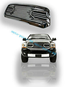 Front Bumper Grille Big Horn Chrome Grill Trim For Dodge RAM 2500 3500 2010-2017