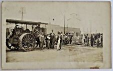 Antique Real Photo Postcard-Farm Equipment-Seaton Illinois-1912