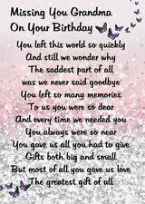 Waterproof Graveside Card Mum Daughter sister Auntie Nan Memorial Birthday no 11
