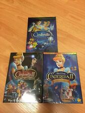 Cinderella DVD Trilogy Bundle 1 2 3 all 3 movie included box set Free Shipping