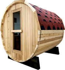 New listing New Canadian Red Cedar Wet Dry Traditional Steam Sauna Spa w/ Roof 6Kw Heater