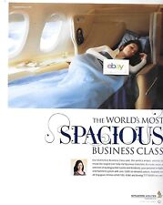 SINGAPORE AIRLINES BOEING 777-300ER THE WORLD'S SPACIOUS BUSINESS CLASS AD
