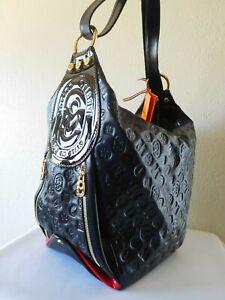 New MARINO ORLANDI Embossed Logo Large Sling Bag/Backpack