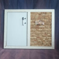Shabby Chic Cork & Magnetic  Whiteboard / Notice Board