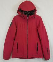 Athleta Maribel Ski Snow Jacket Recco Tech Sz Small S Rasbeery Red Pink