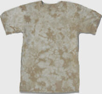 Hand-dyed TIE DYE  T-SHIRT Size X-LARGE Beige / Tan CRACKLE XL