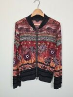 VERGE New Zeeland Designer Jacket Women's Sz XL Zip Up Floral Lace Knit Cardigan