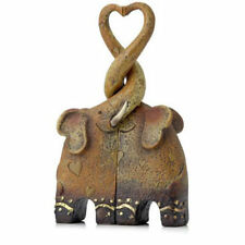 Cute Entwined Kissing Elephants Heart Shaping Ornament * Gift * Wedding * Love