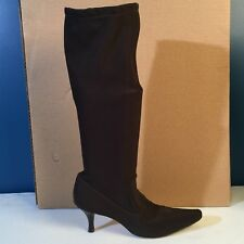 COLE HAAN Chocolate Brown Tall Stretch Boots 8.5 B