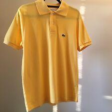 Lacoste Men's Polo Shirt Regular Fit Size 5 Medium in Sunshine Yellow